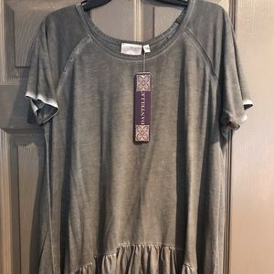 Short sleeve Danielle boutique shirt.